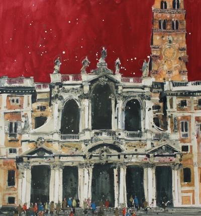 Facade of St. Maria Maggiore, Rome