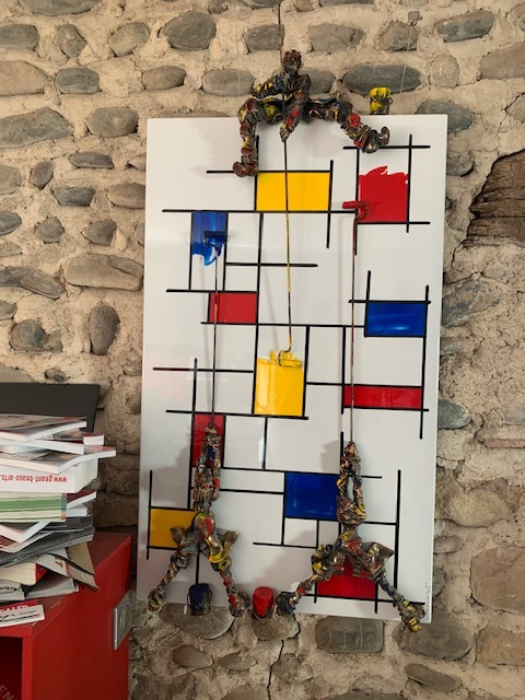Three Man Mondrian